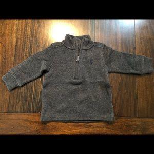 Ralph Lauren 9mos. Boys Quarter Zip Sweater
